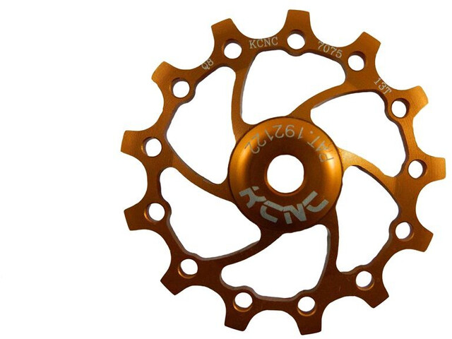 KCNC Jockey Wheel 12T Narrow Wide SS Bearing Long Teeth, gold